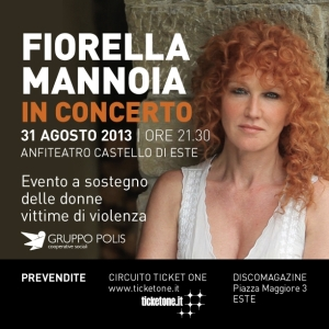 Fiorella Mannoia in concerto contro la violenza sulle donne